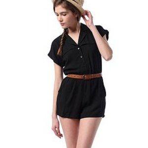 UO Lucca Couture Safari Button-Up Romper